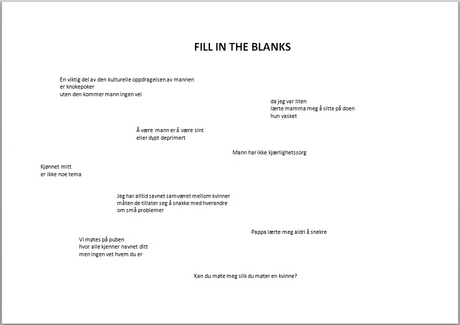 Fill in the blanks til Blogg