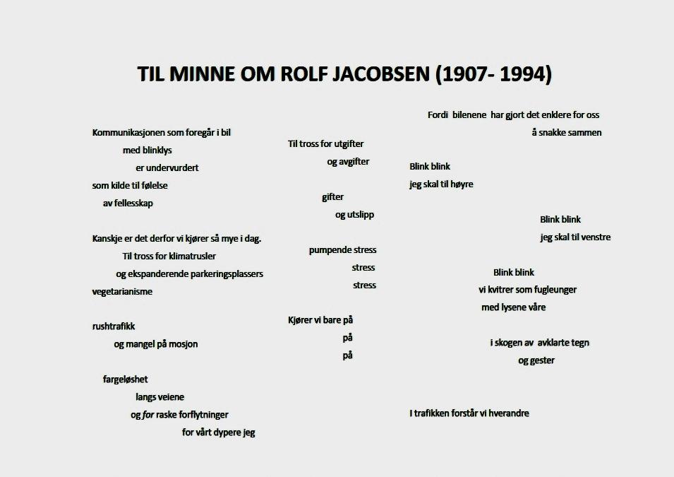 Til minne om Rolf Jacobsen